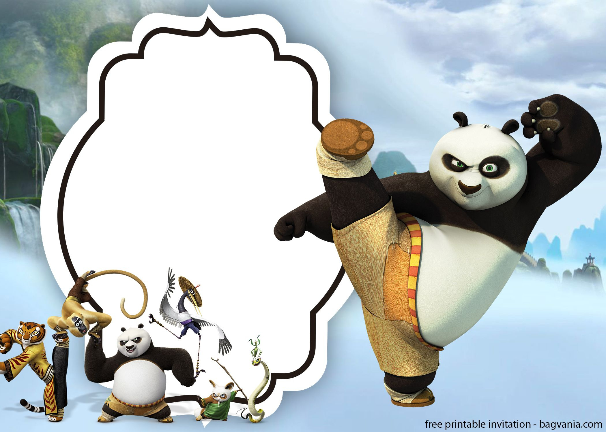 Free Kungfu Panda Invitations Templates | Bagvania Invitation | Free - Panda Bear Invitations Free Printable