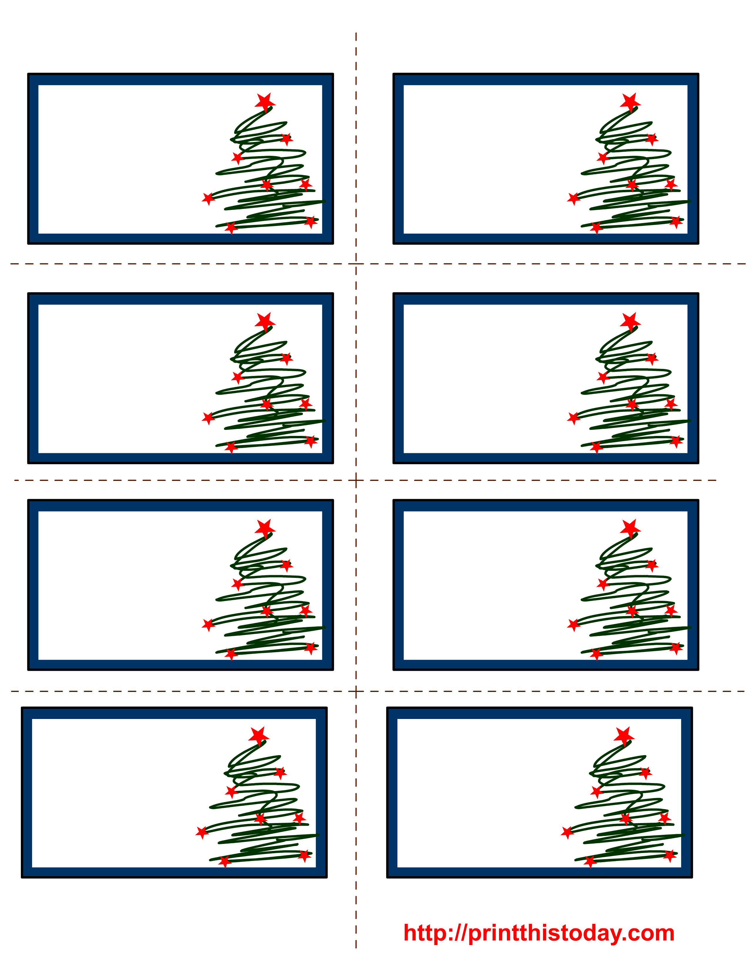 Free Labels Printable   Free Printable Christmas Labels With Trees - Free Printable Holiday Labels