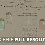 Free Mason Jar Wedding Invitation Printable   Natashamillerweb   Free Mason Jar Wedding Invitation Printable Templates