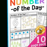 Free Math Game Pack For Kindergarten   Free Printable Number Of The Day Worksheets