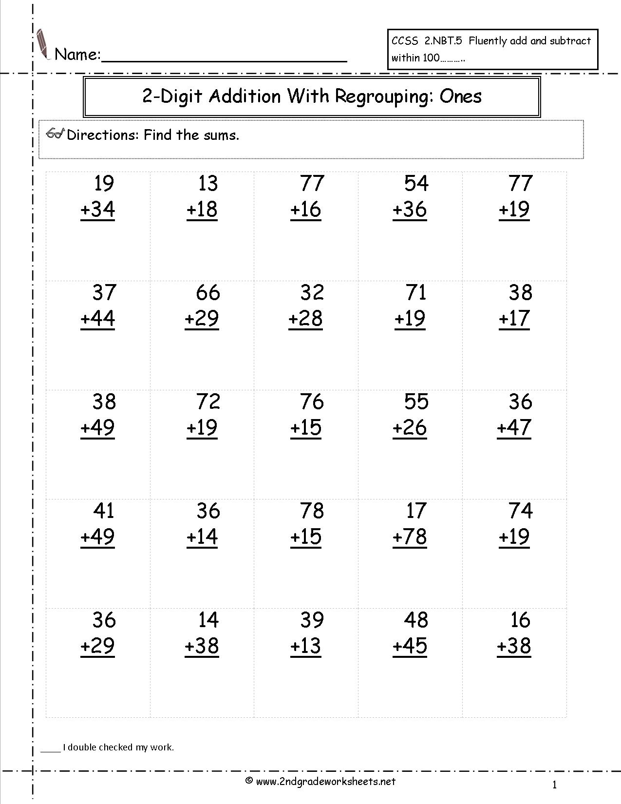 Free Math Worksheets And Printouts - Year 2 Maths Worksheets Free Printable