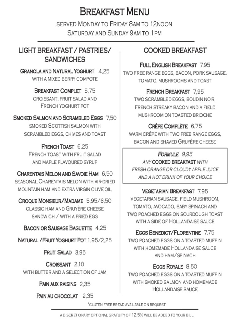 Free Menu Templates Blank Restaurant Samples For Word Breakfast - Free Printable Menu Templates Word