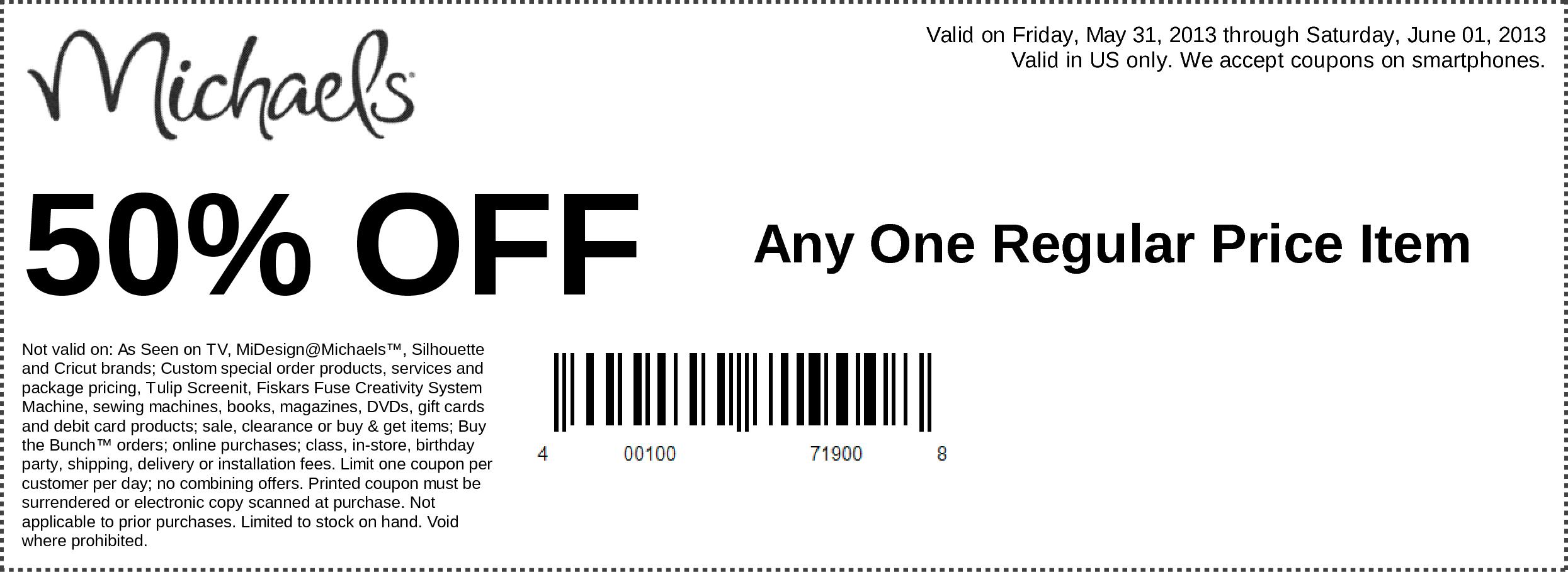 Free-Michaels-Printable-Coupons-2017 – Printable Coupons Online - Free Printable Michaels Coupons