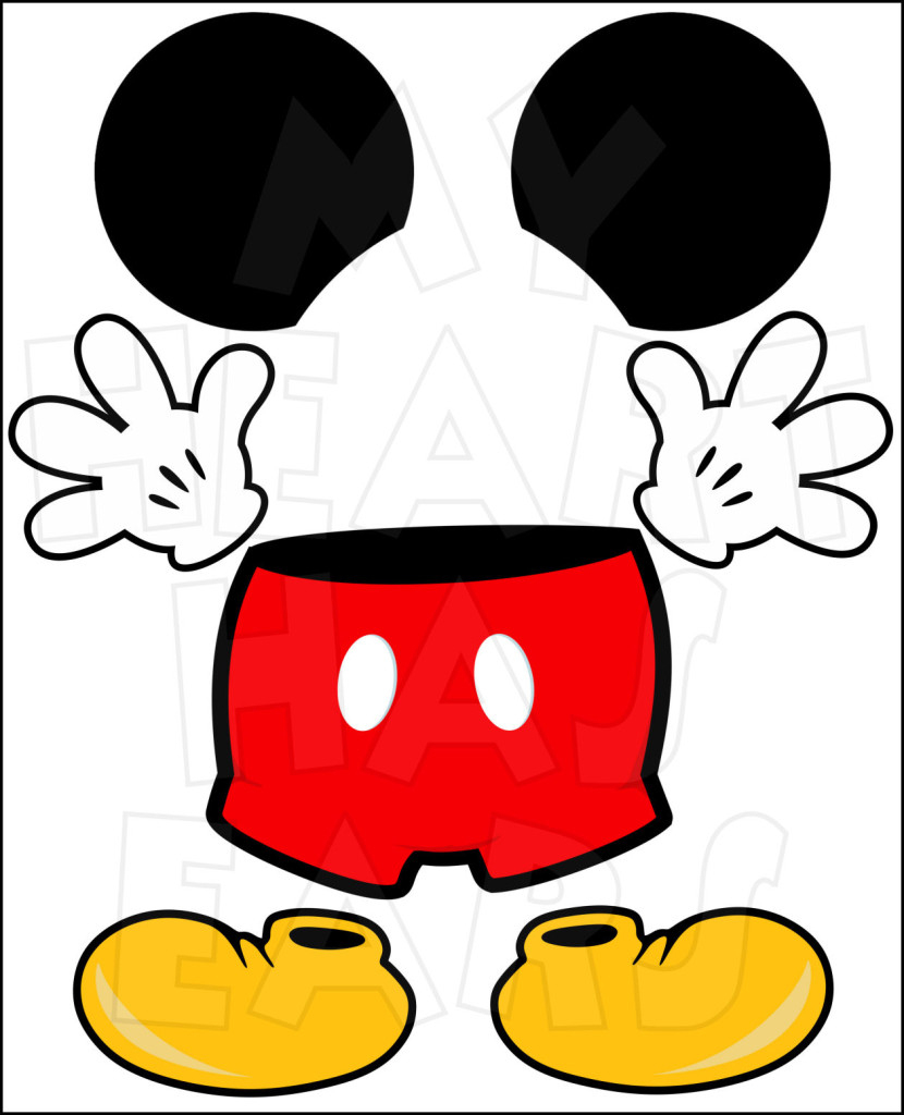 Free Mickey Mouse Head Png, Download Free Clip Art, Free Clip Art On - Free Mickey Mouse Printable Templates