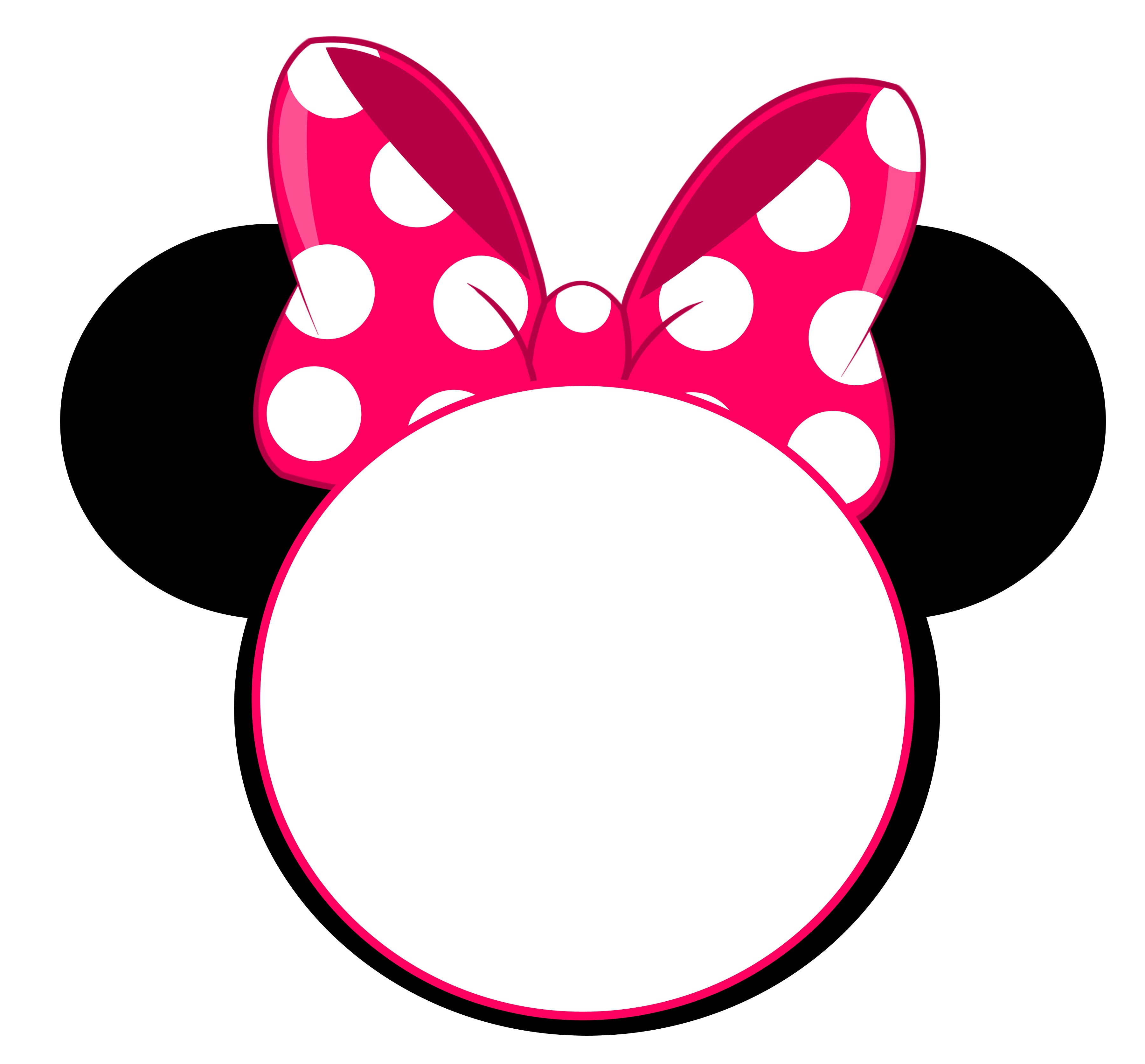 Free Minnie Mouse Head Blank Invitation Template For Minnie Mouse - Free Printable Mickey Mouse Head