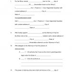 Free Minor (Child) Power Of Attorney Forms   Pdf | Word | Eforms   Free Printable Child Guardianship Forms