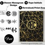 Free Monogram Binder Cover | Customize Online | Instant Download   Free Printable Monogram Binder Covers