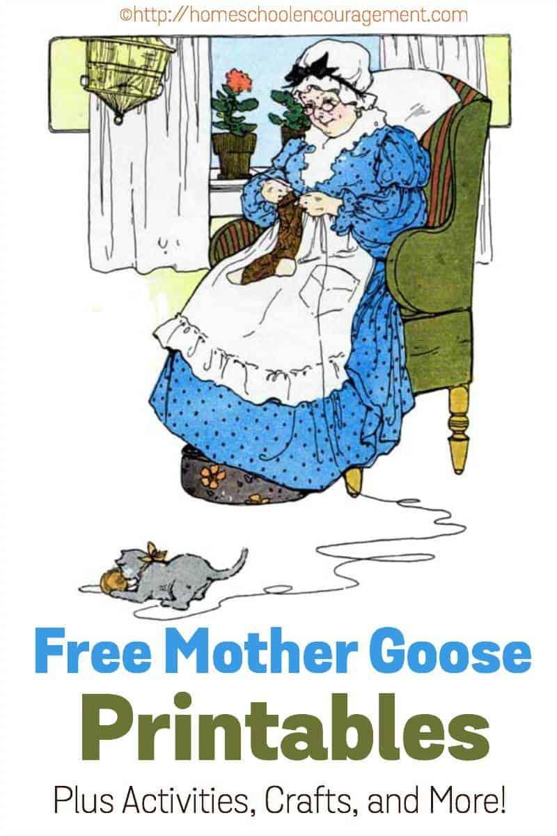 Free Mother Goose Printables Plus Crafts, Activities, And More! - Free Printable Mother Goose Nursery Rhymes