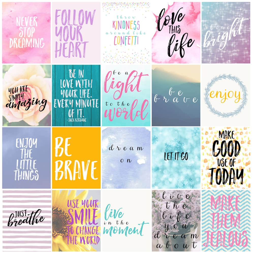 Free Motivational Printable Planner Stickers - Love Paper Crafts - Free Printable Stickers