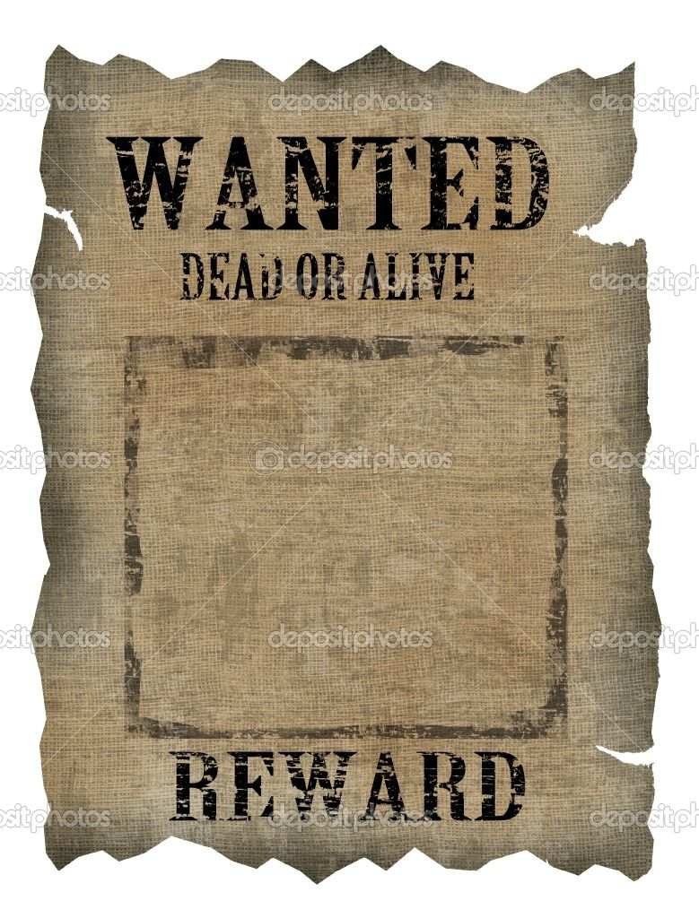 Free Old Western Wanted Posters | Vintage Wanted Poster | Stock - Wanted Poster Printable Free