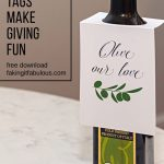 Free Olive Oil Gift Tags. Thank Your Teachers, Clients, And Friends   Free Printable Olive Oil Labels