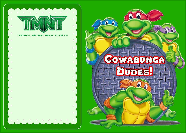 Free Online Ninja Turtle Invitation   Coolest Invitation Templates - Free Printable Ninja Turtle Birthday Invitations