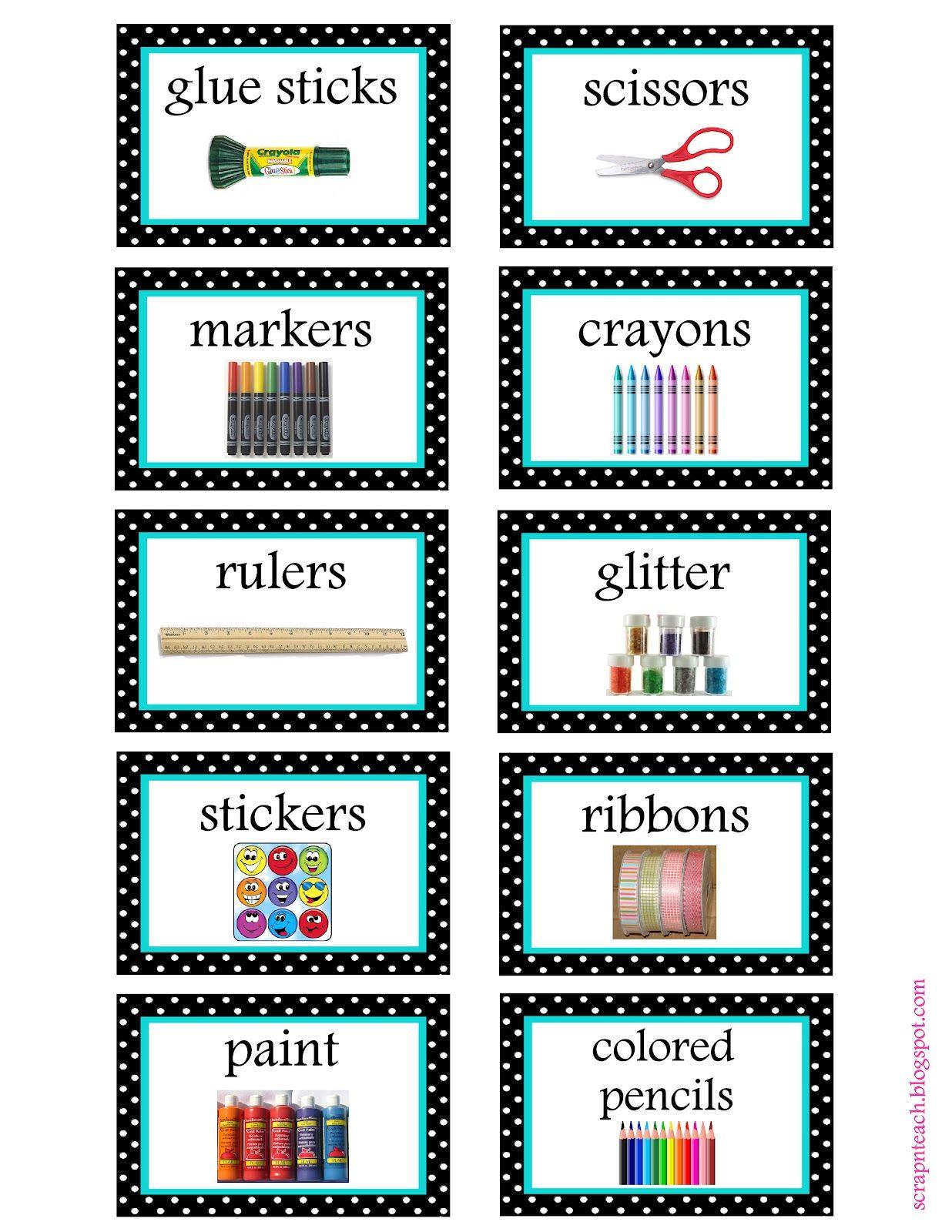 Free Organization Label Printables | Classroom Organization - Free Printable Classroom Labels With Pictures