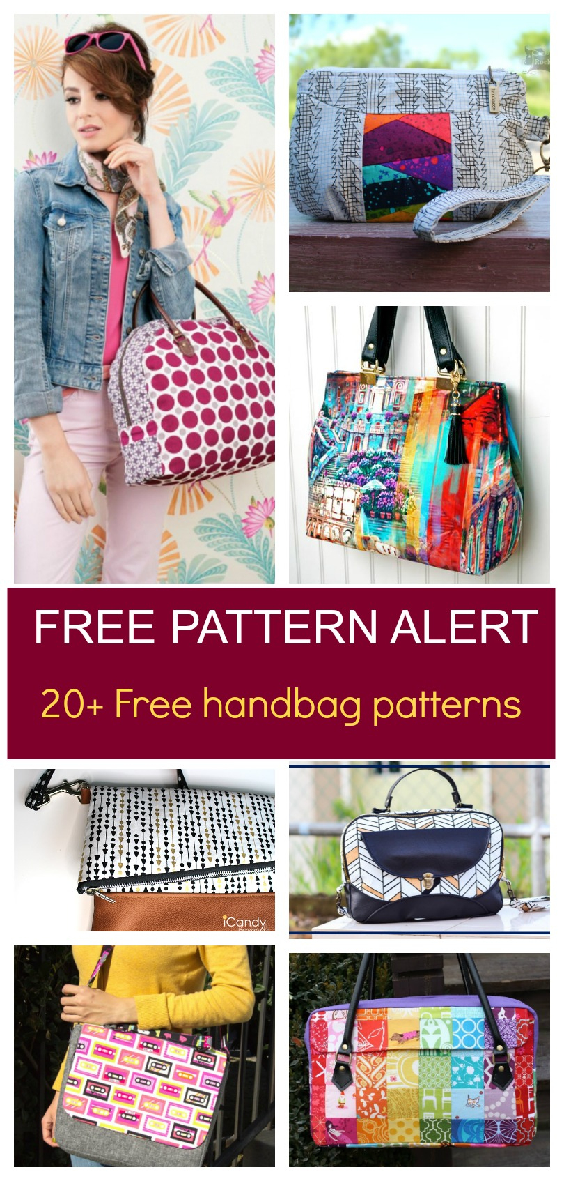 Free Pattern Alert: 20+ Handbag Sewing Patterns | On The Cutting - Free Printable Purse Patterns To Sew