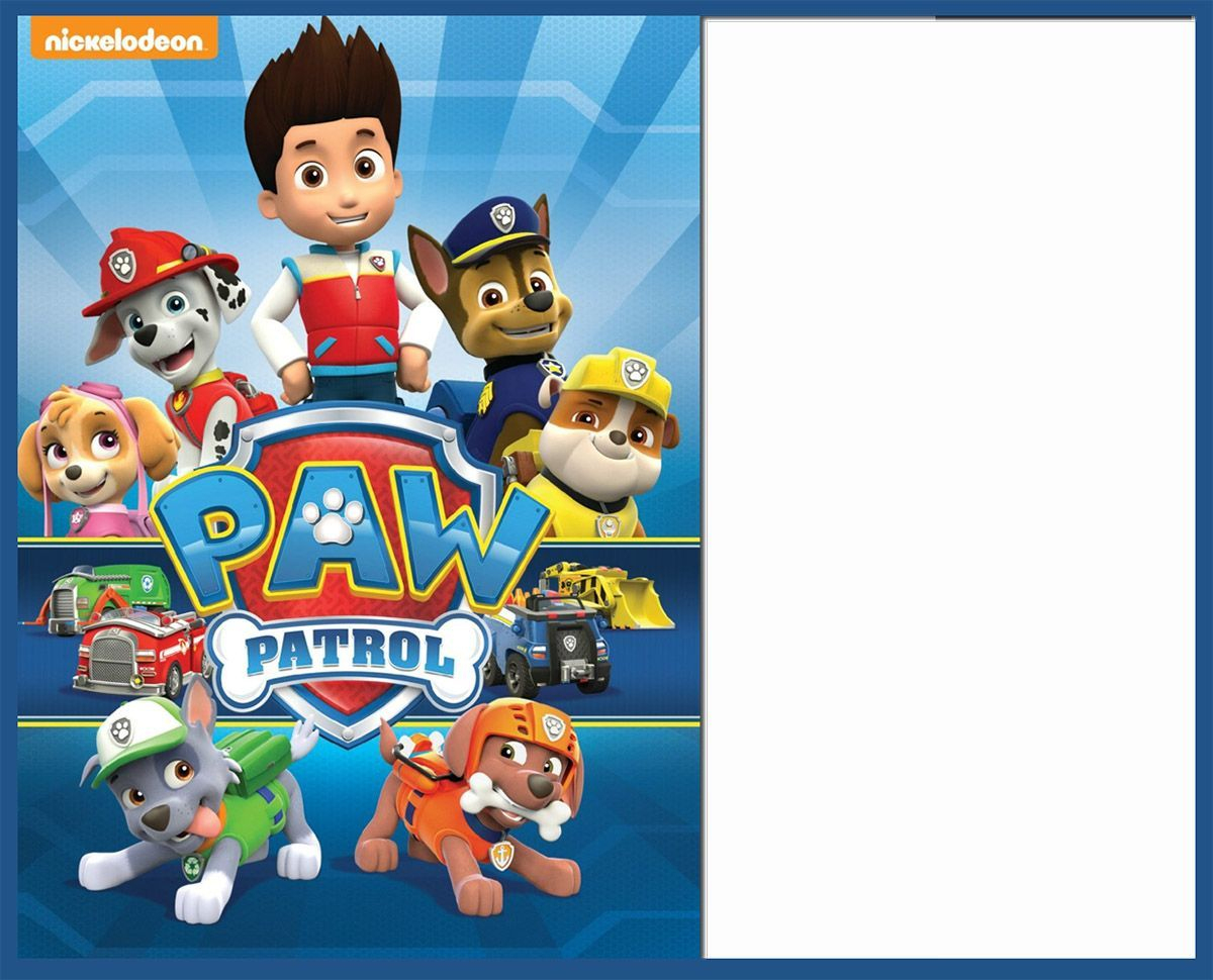 Free Paw Patrol Invitation Template | Hayden's 3Rd Birthday - Free Printable Paw Patrol Invitations
