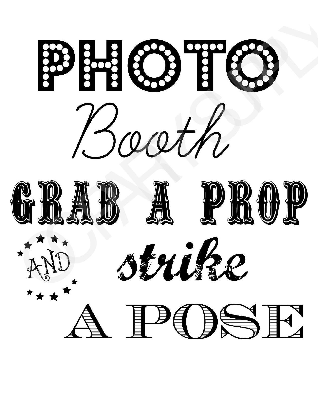 Free Photo Booth Sign (Printable) | Mr & Mrs | Fiesta En La Playa - Free Printable Photo Booth Sign