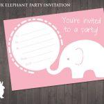 Free Pink Elephant Party Invitation | Ruby And The Rabbit | Owl   Free Printable Cheetah Birthday Invitations