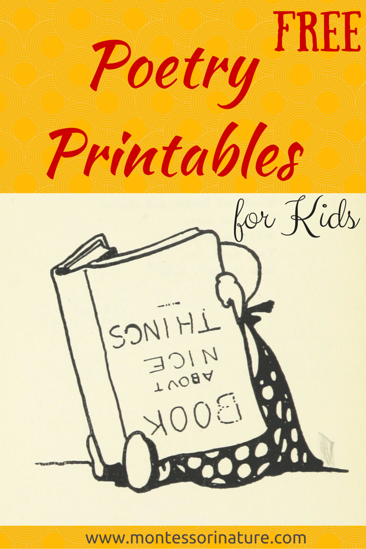 Free Poetry Printable Cards For Kids. - Montessori Nature - Free Printable Poetry Posters