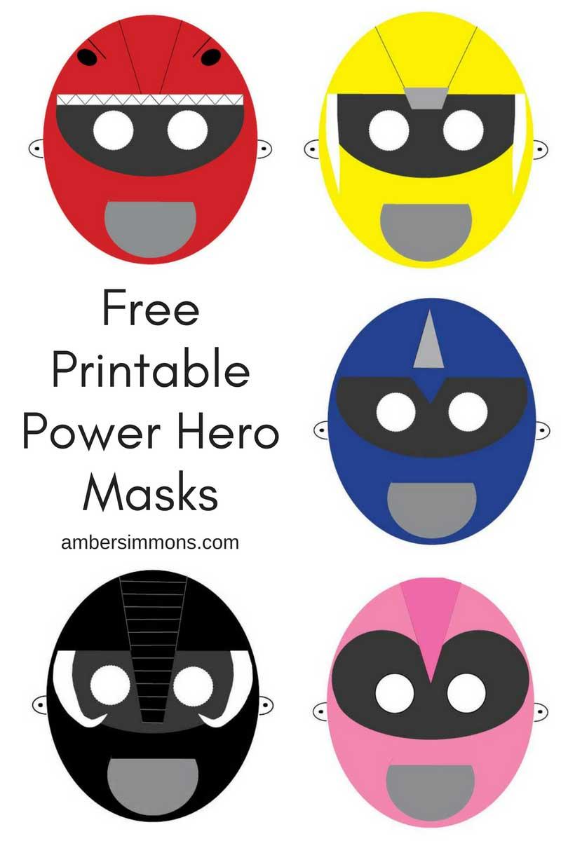 Free Power Hero Printable Masks - Free Printable Masks