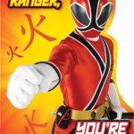 Free Power Ranger Birthday Invitations | Bagvania Invitation   Free Printable Power Ranger Birthday Invitations