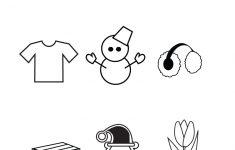 Free Preschool Winter Worksheet – Free Printable Seasons Worksheets For Kindergarten