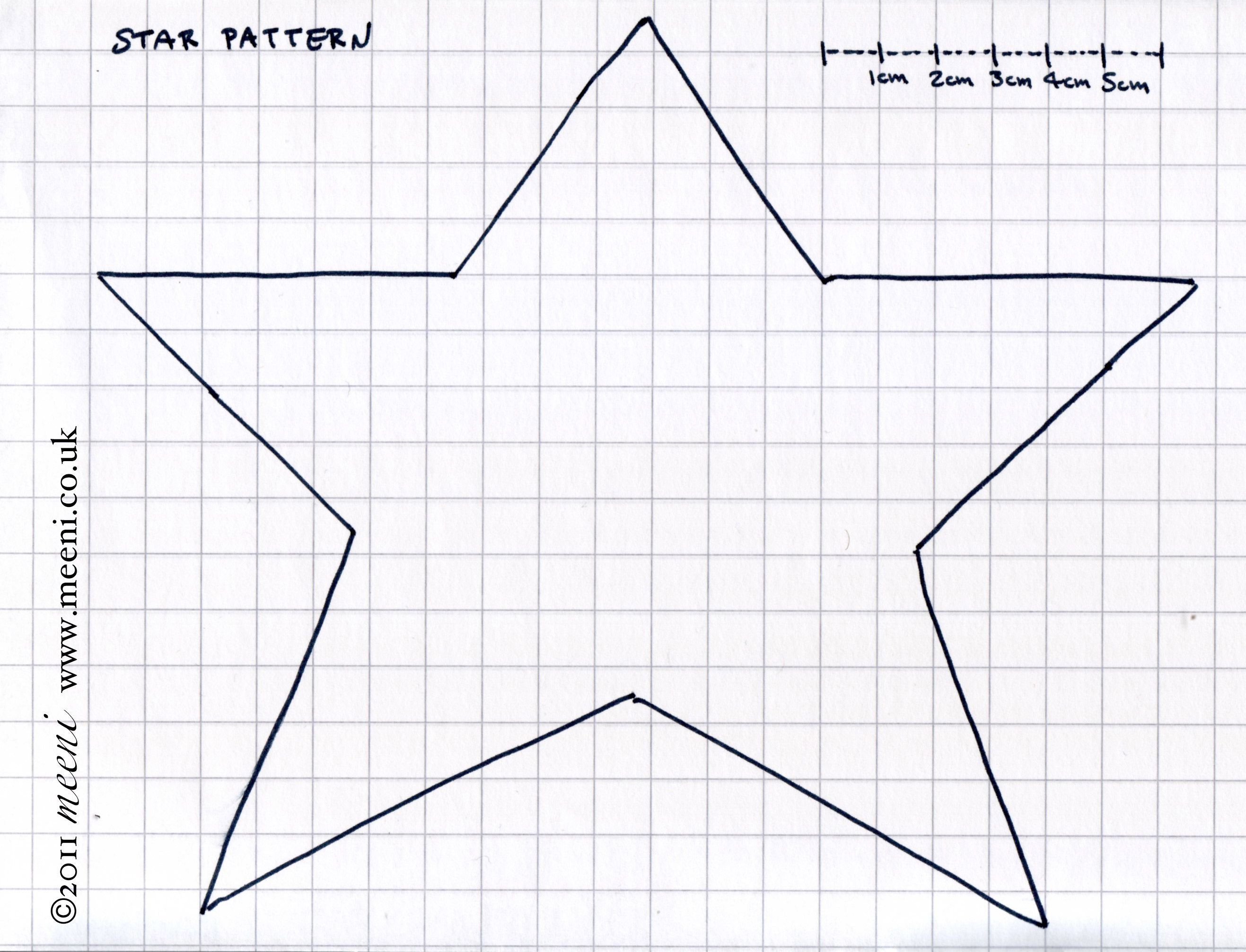 Free Primitive Star Template | Paper Pricking Free Patterns Sports - Free Printable Paper Pricking Patterns