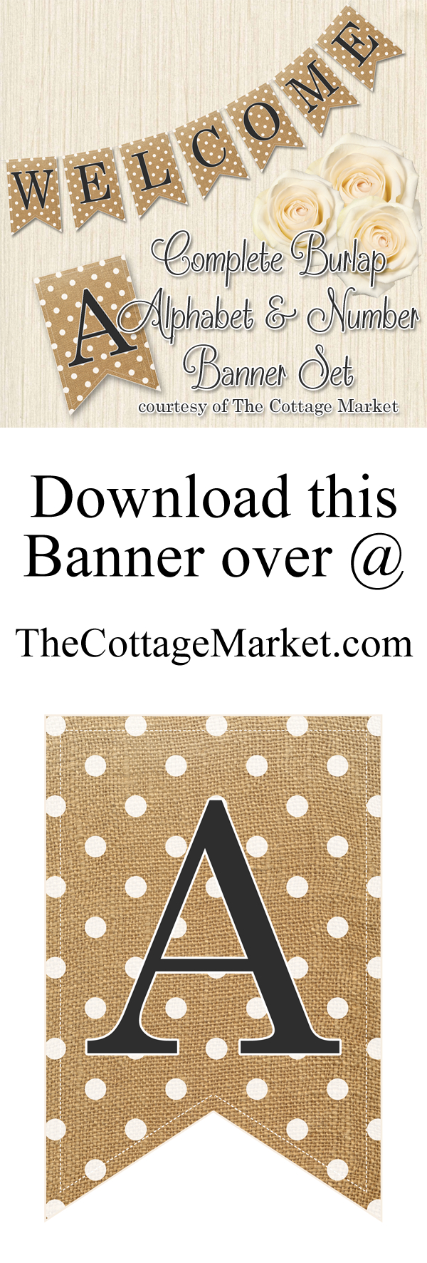 Free Printabe Complete Alphabet And Number Burlap Banner - The - Free Printable Wedding Banner Letters