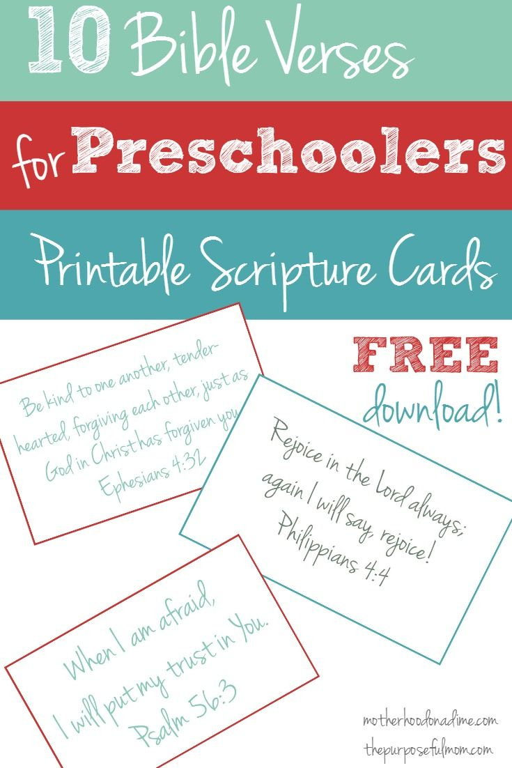 Free Printable: 10 Bible Verses To Teach Your Preschooler   Faith - Free Printable Bible Verses For Children