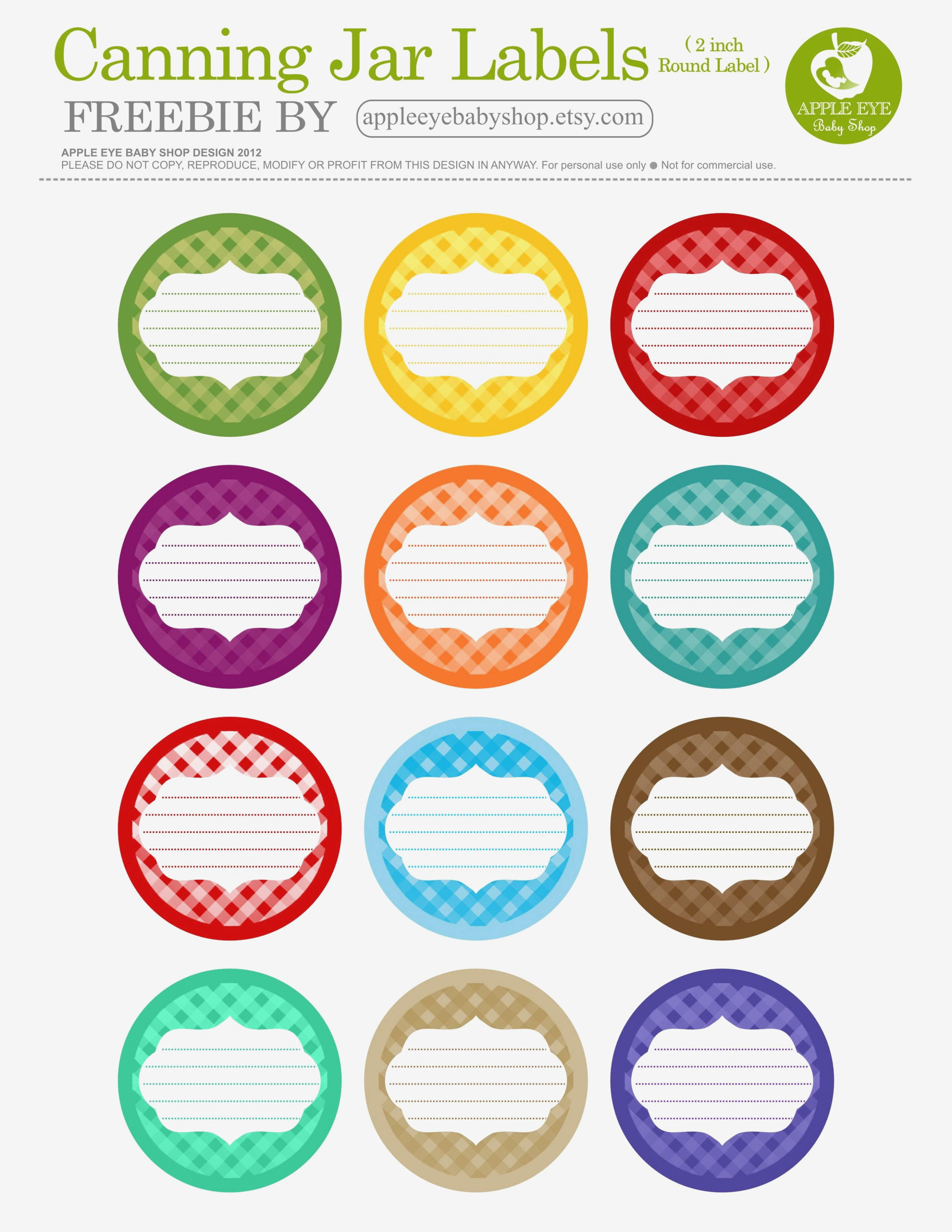 Free Printable| 15 Canning Jar Labels} Freebie@apple Ratana - Free Printable Mason Jar Labels Template
