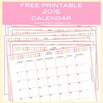 Free Printable 2016 Monthly Planner Calendar   Part 2   Kalender   Free Printable Monthly Planner 2016