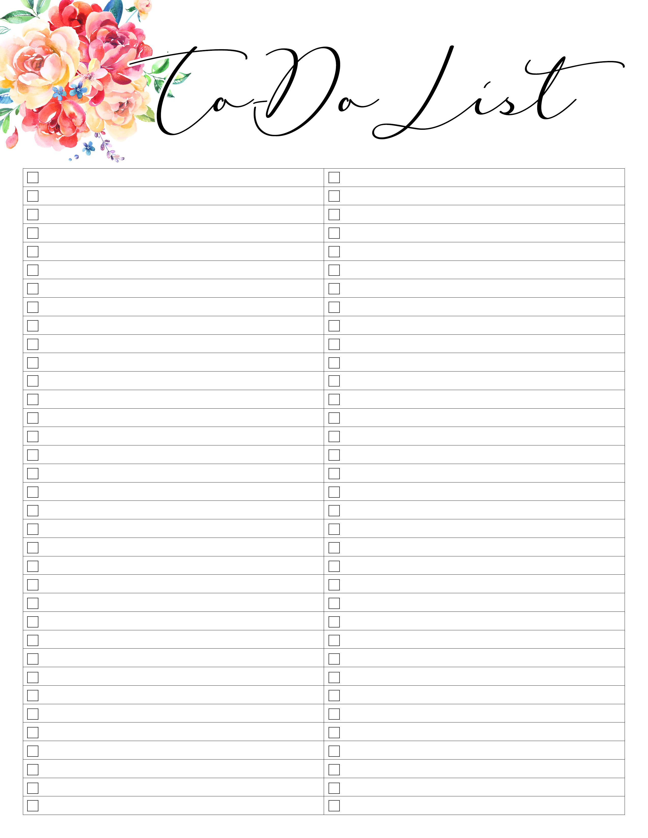 Free Printable 2019 Planner 50 Plus Printable Pages!!! - The Cottage - Free Printable To Do List Planner