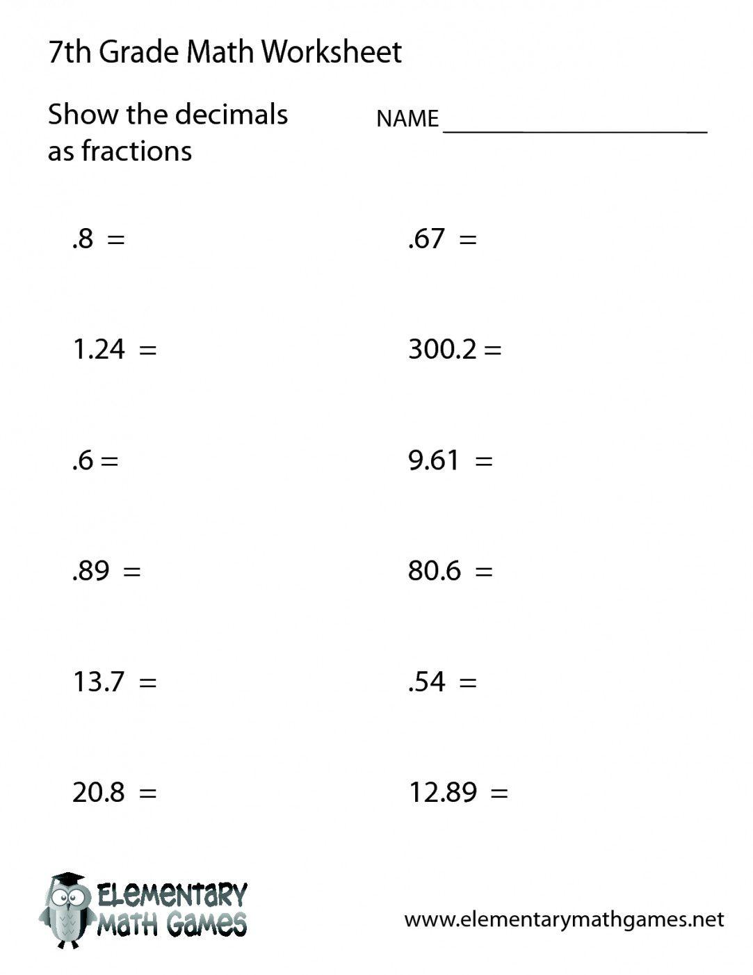 Free Printable 7Th Grade Math Worksheets   Lostranquillos - Free Printable 7Th Grade Math Worksheets