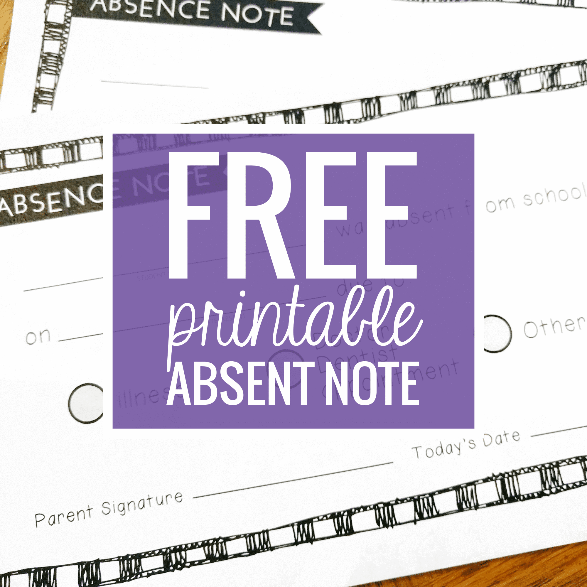 Free Printable Absence Notes For The Elementary Classroom - Teach Junkie - Free Printable Teacher Notes To Parents