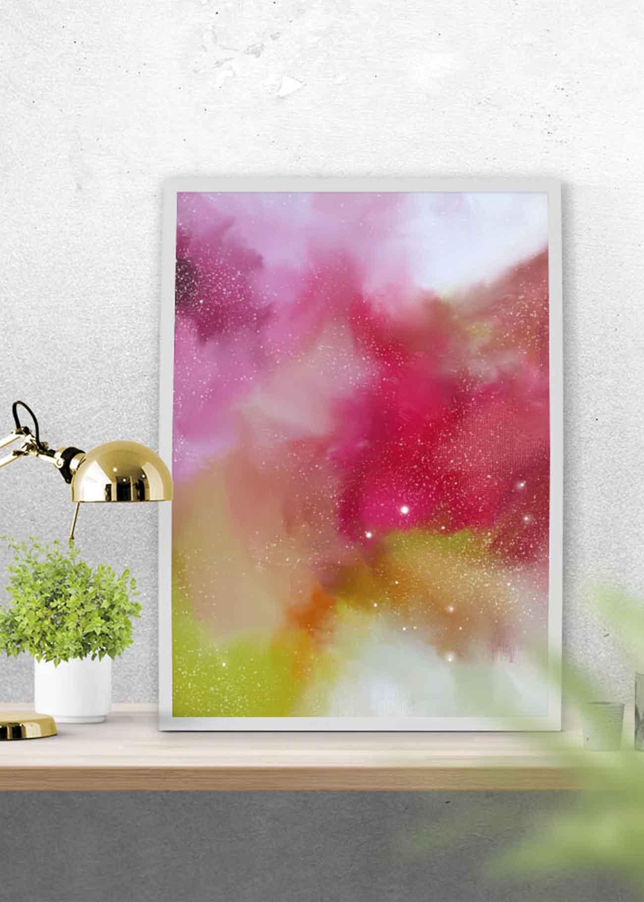 Free Printable Abstract Art - July 2016 | Corinne Melanie - Free Printable Artwork