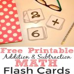 Free Printable Addition And Subtraction Math Flash Cards   Simple   Free Printable Addition Flash Cards
