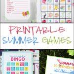Free Printable Adorable Summer Bingo Cards   Pretty Providence   Free Printable Summer Games
