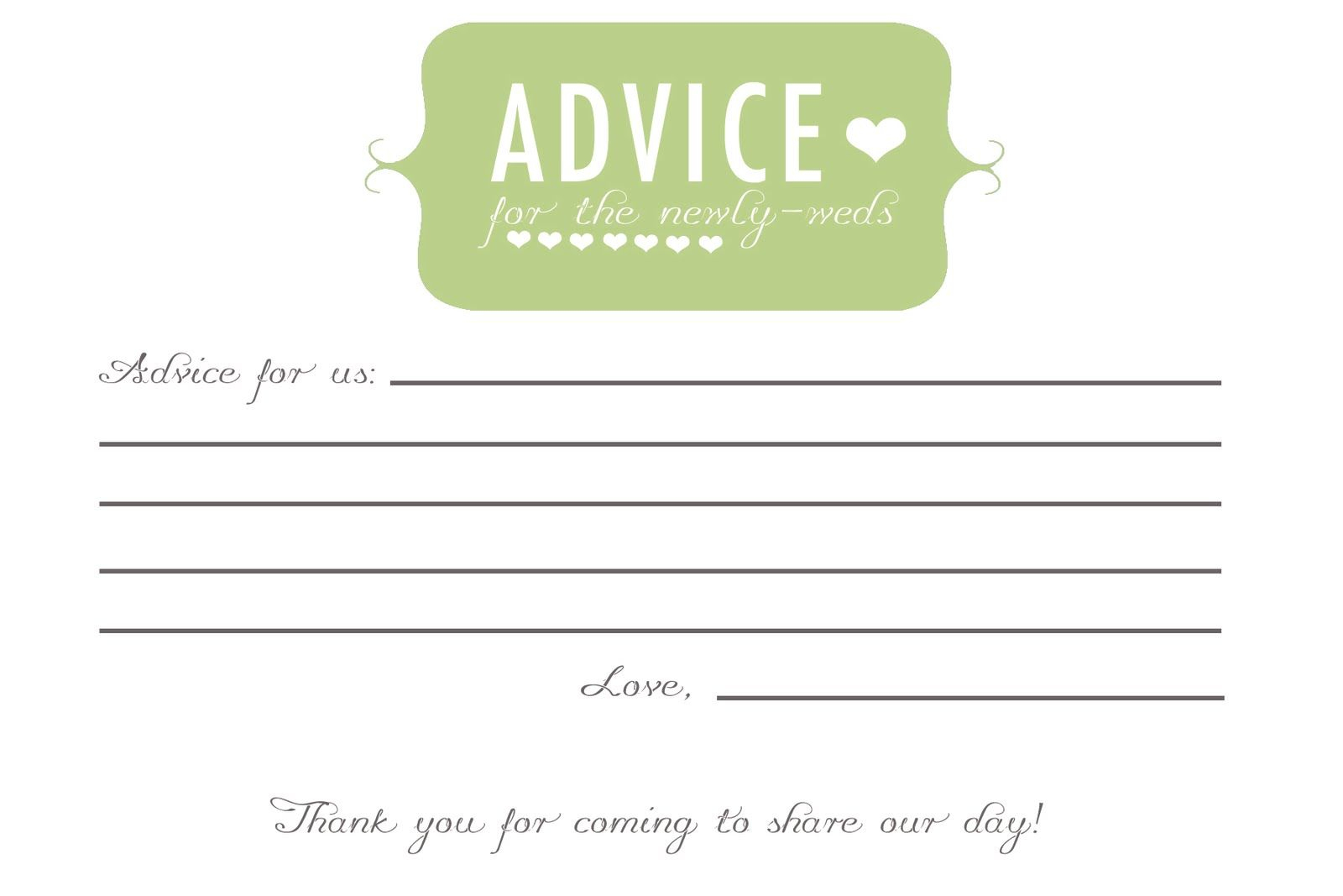 Free Printable Advice Cards For Mom - To -Be - Yahoo Image Search - Free Printable Bridal Shower Advice Cards