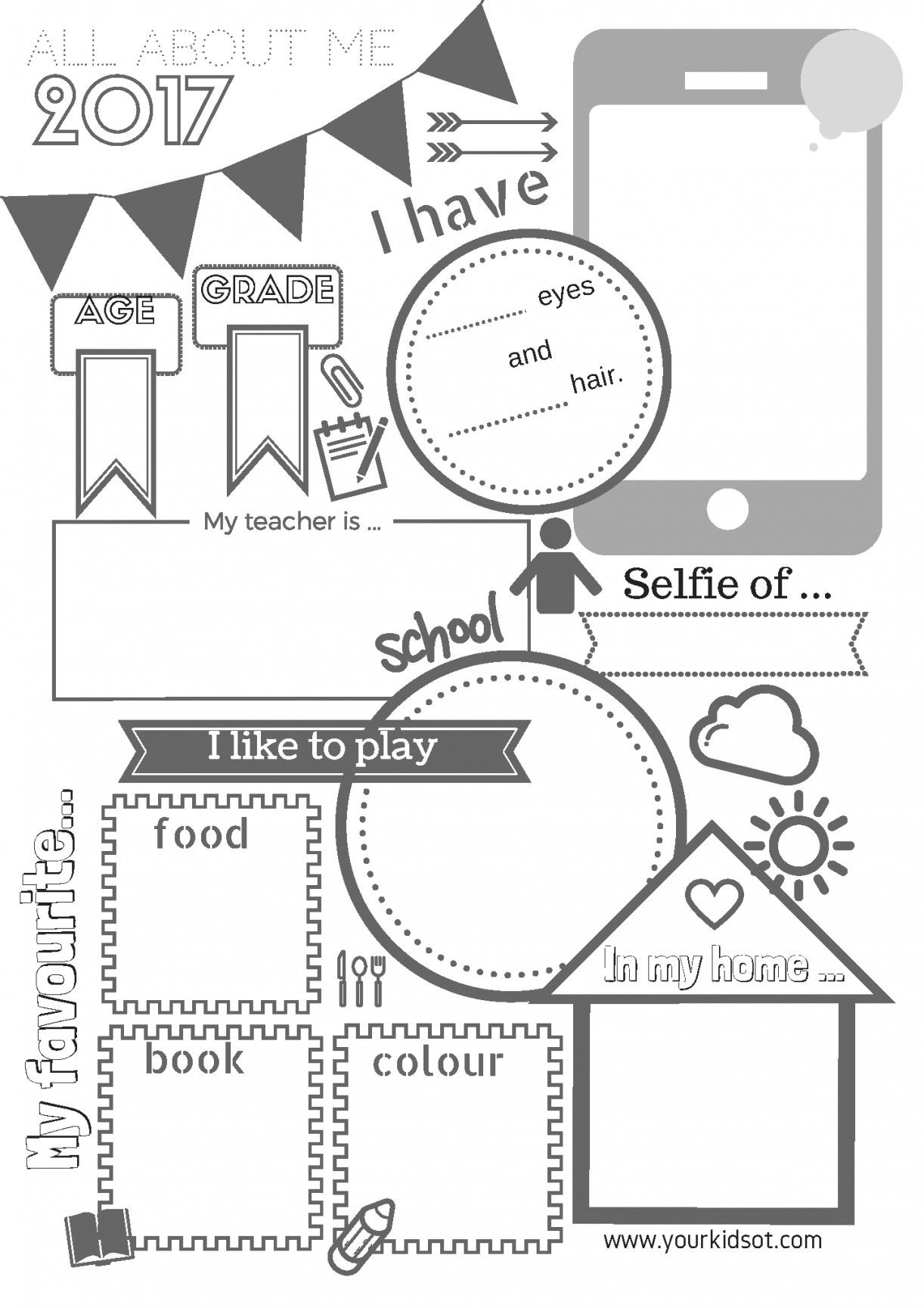 Free Printable All About Me Worksheet | Lostranquillos - All About Me Free Printable