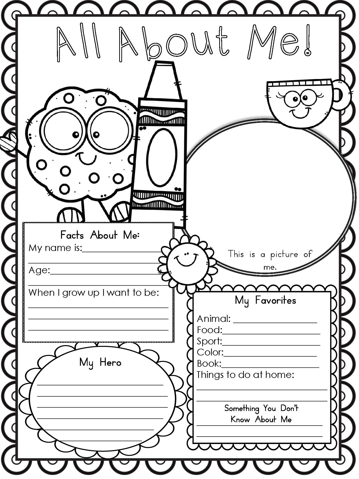 Free Printable All About Me Worksheet - Modern Homeschool Family - Free Printable All About Me Worksheet