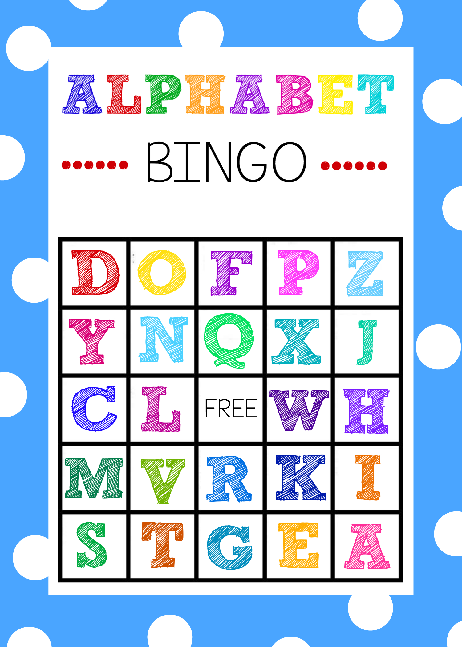 Free Printable Alphabet Bingo Game   Abc Games   Pinterest - Free Printable Alphabet Board Games