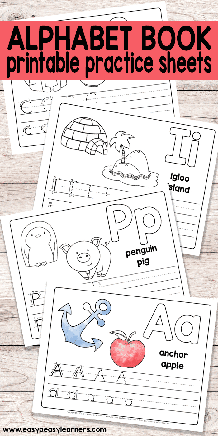 Free Printable Alphabet Book For Preschool And Kindergarten | Crafts - Free Printable Phonics Books