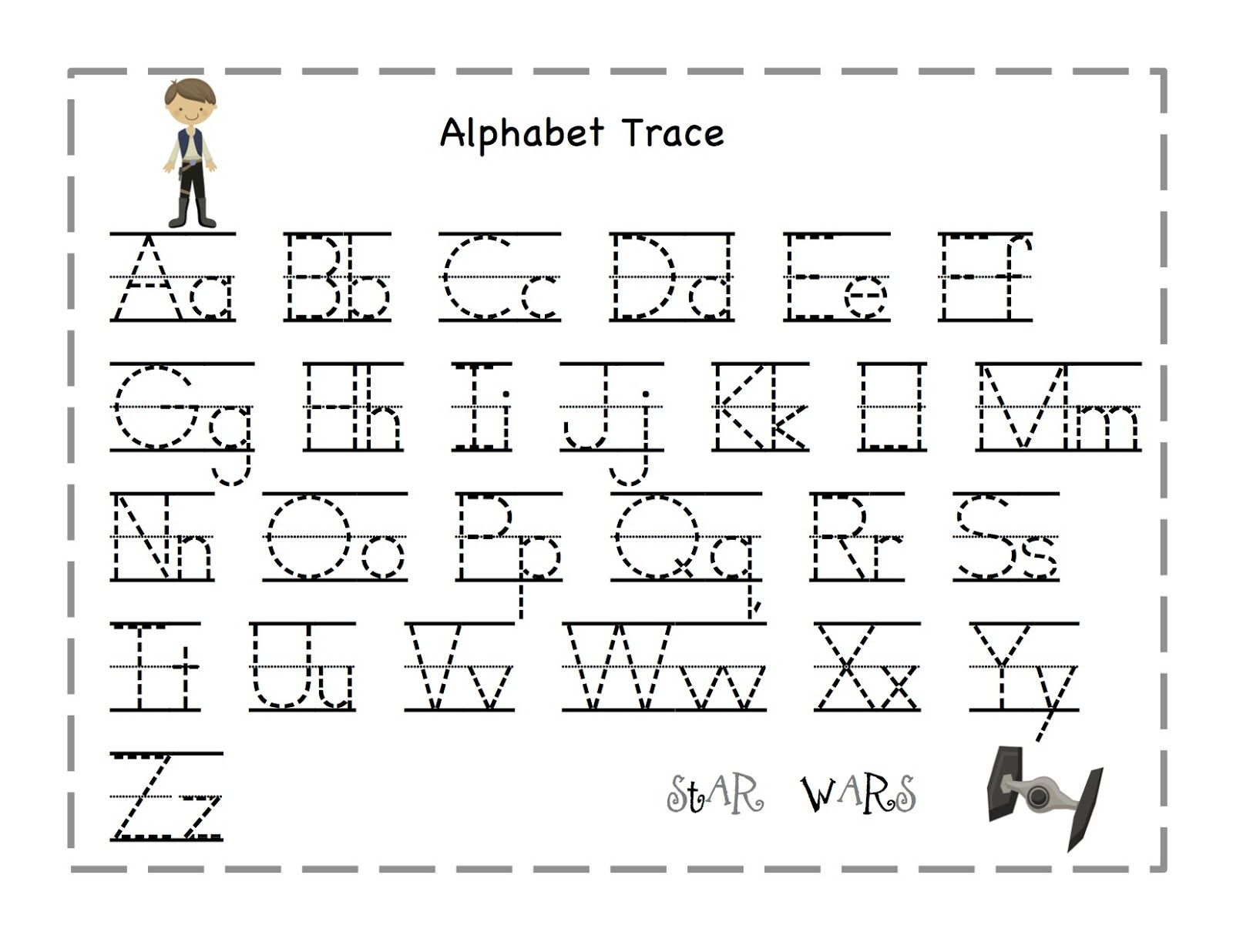 Free Printable Alphabet Letter Tracing Worksheets   Angeline - Free Printable Alphabet Tracing Worksheets