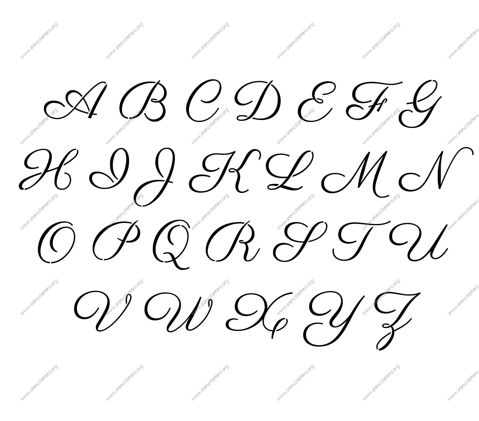 Free Printable Alphabet Stencil Letters Template | Art & Crafts - Free Printable Disney Alphabet Letters