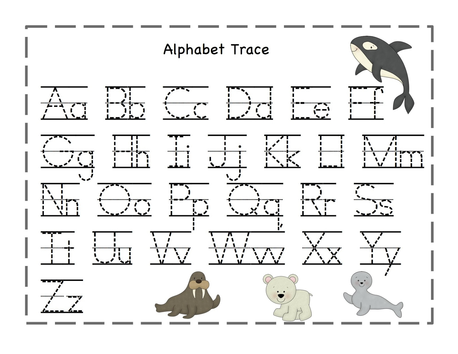 Free Printable Alphabet Tracing Worksheets Number For Kindergarten - Free Printable Tracing Letters And Numbers Worksheets