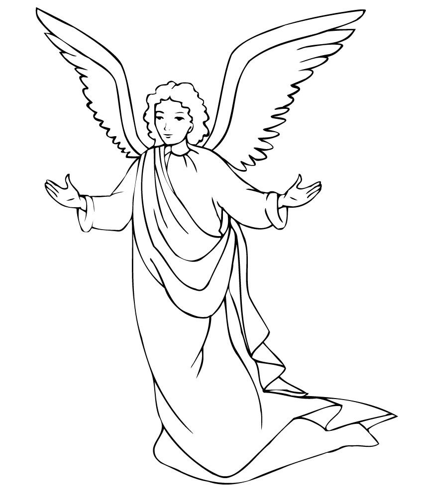 Free Printable Angel Coloring Pages For Kids | Éducation Chrétienne - Free Printable Angels