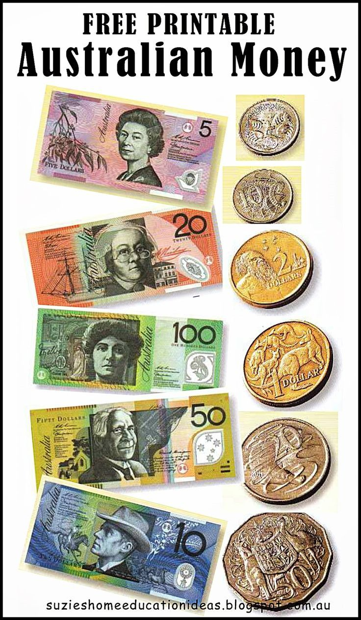 Free Printable Australian Money (Notes & Coins) - Would Be Great For - Free Printable Australian Notes