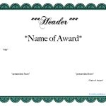 Free Printable Award Certificate | Templates At Allbusinesstemplates   Free Printable Certificate Templates