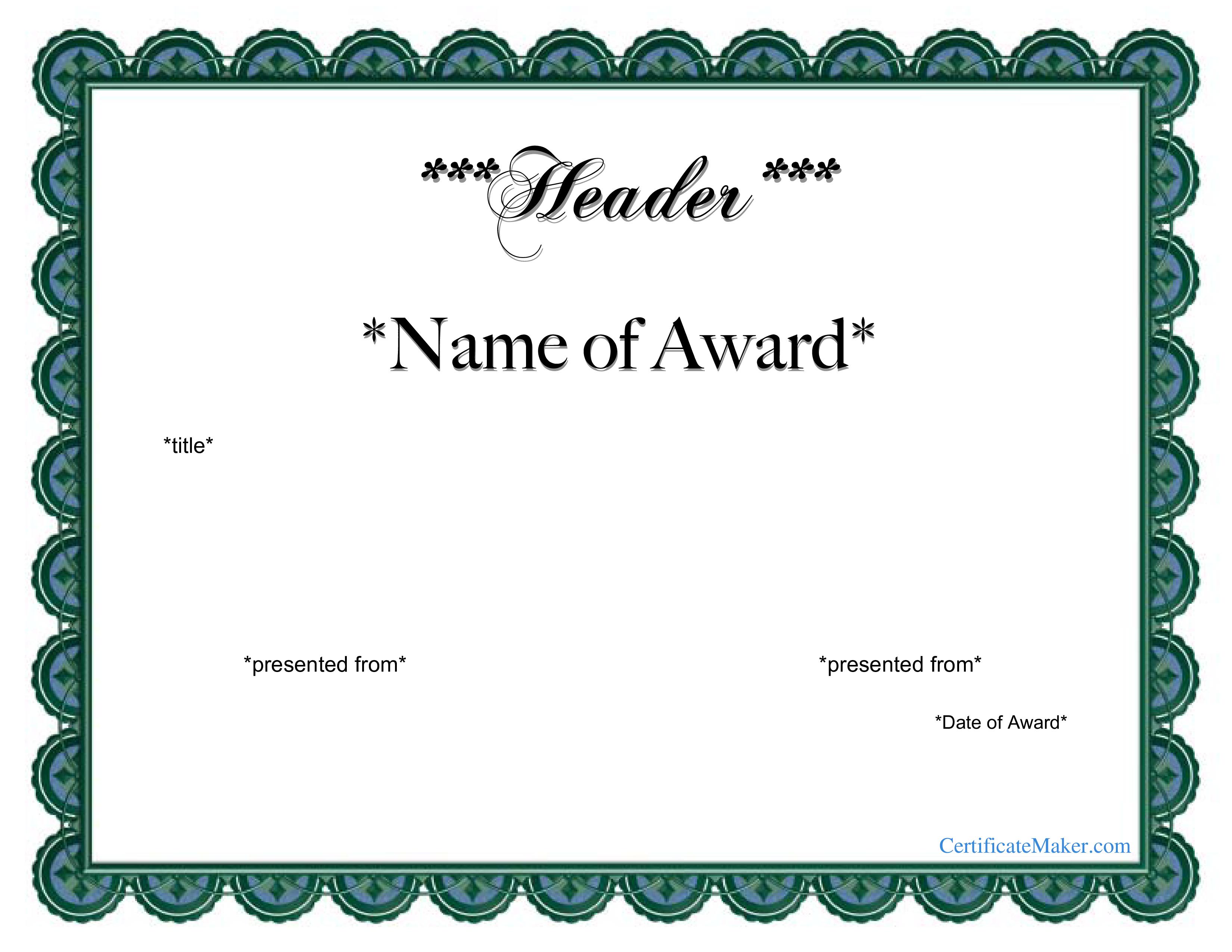 Free Printable Award Certificates Certificate Templates At - Free Printable Student Award Certificate Template