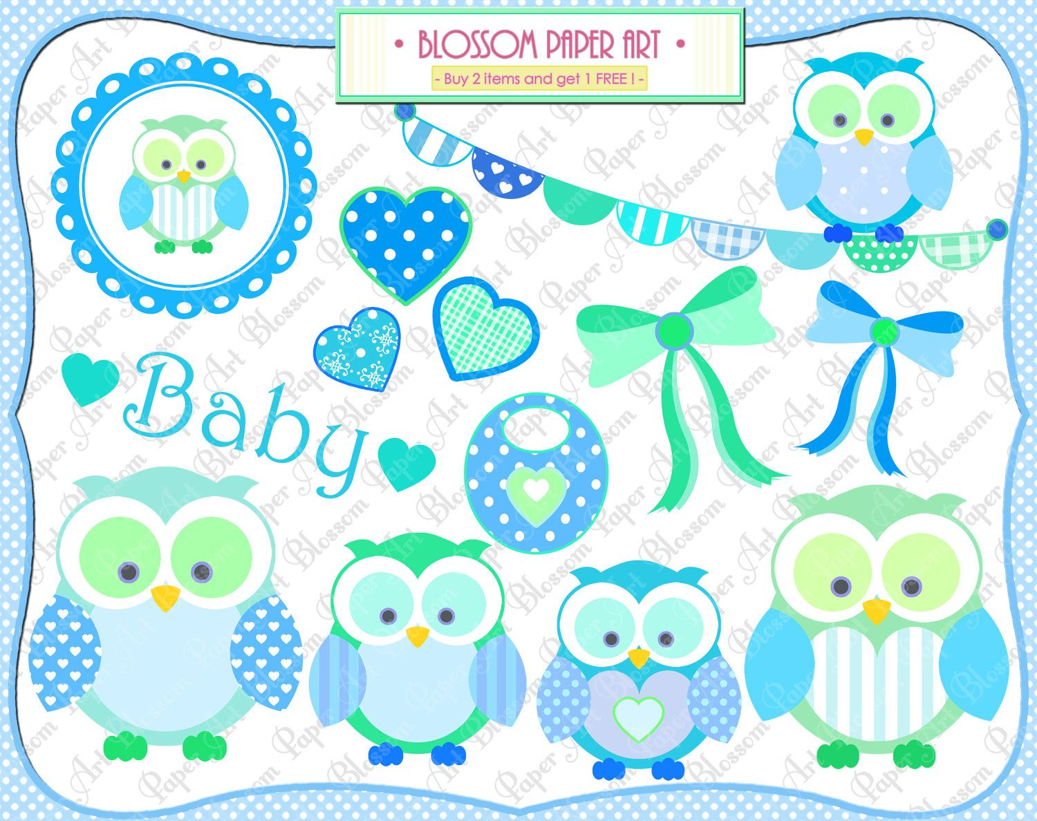 Free Printable Baby Clip Art | Baby Owl Boy - Clipart - Baby Shower - Free Printable Baby Shower Clip Art