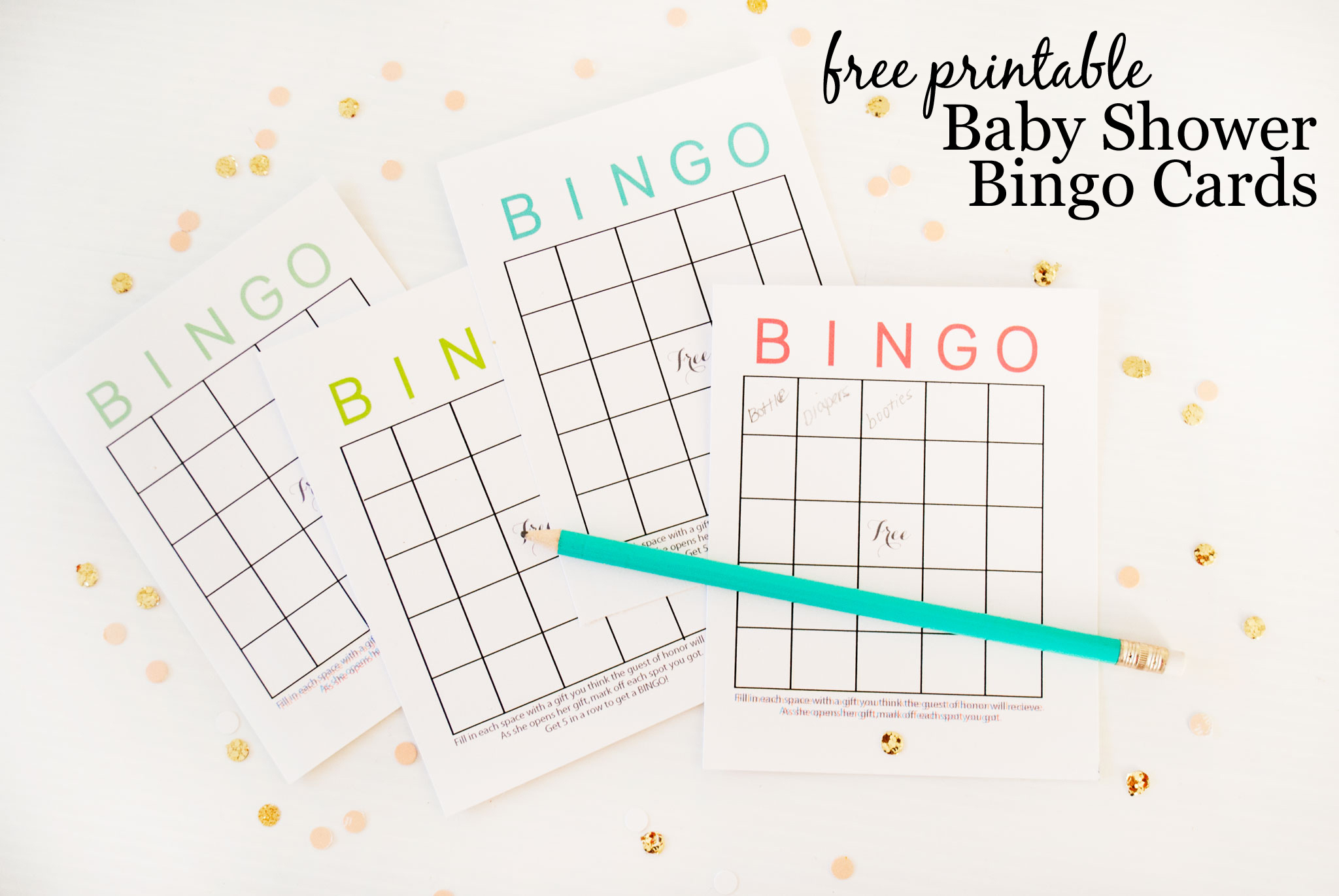 Free Printable Baby Shower Bingo Cards - Project Nursery - Baby Bingo Free Printable